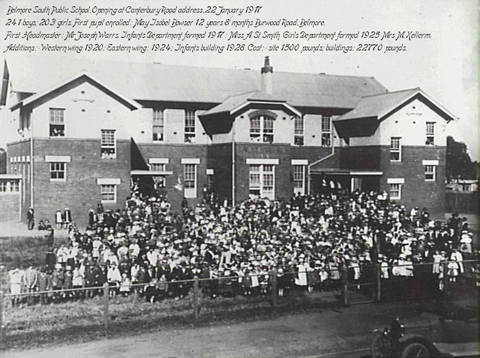 Belmore South Public School on opening day – 22 January 1917.